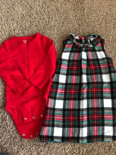 Carter s 18 month flannel dress and onesie