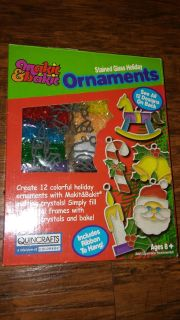 Christmas stained glass ornament kit