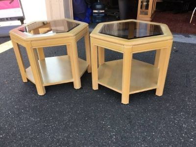 Set of Two Bleached Oak End Tables - Delivery Available