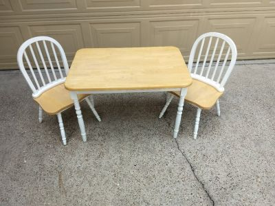 Child's Table & Two Chairs