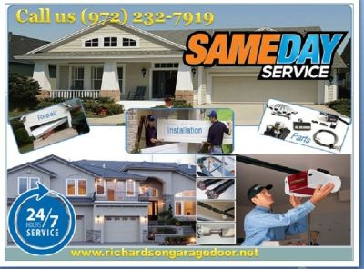 24 Hour | Emergency Garage Door Repair ($25.95) Richardson Dallas, TX