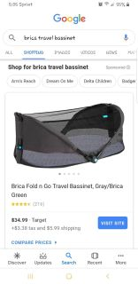Fold and go travel bassinet