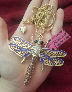 Betsey Johnson dragonfly necklace