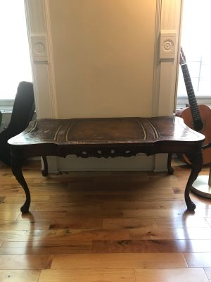Ornate Mahogany Vintage Coffee Table