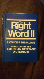 The right word Thesaurus. euc