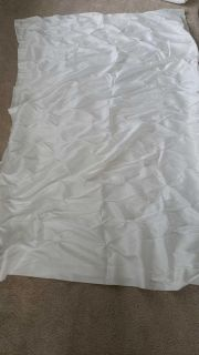 4 white taffeta pin-tuck curtain panels