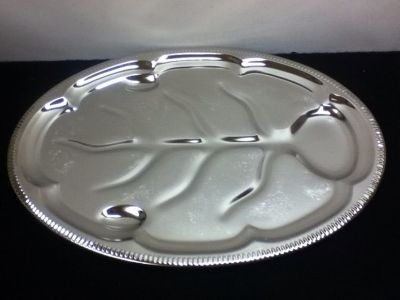 "Vintage Silver Platter For ""Beef And Bird"" - NIP"