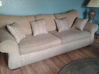 Couch & Oversized Chair ~ $150