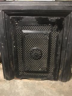 Antique Fireplace Frame and Front Cover
