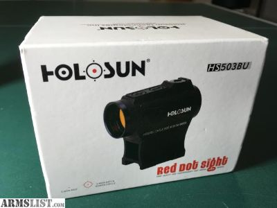 For Sale: Holosun HS503BU Red dot sight - 2 MOA dot and 65 MOA circle