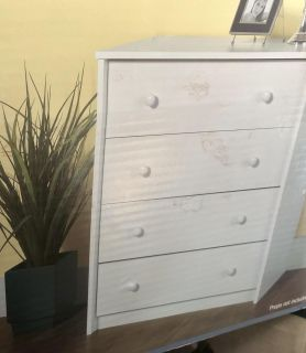 Essential Home 4-drawer chest of drawers. New in box.