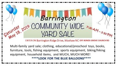 Barrington Community Yard Sale