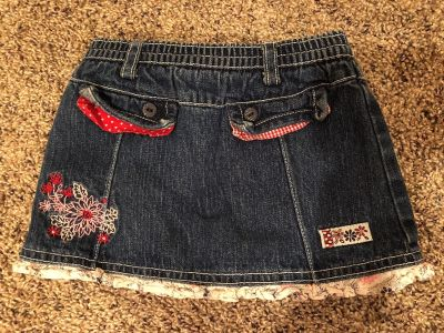 Koala Kids Dillard s Adorable Blue Jean Skirt With Attached Shorts. Like New Condition. Size 6-9 Months