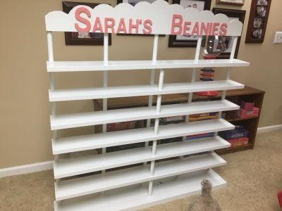 White Book or stuffed animal display unit/bookcase