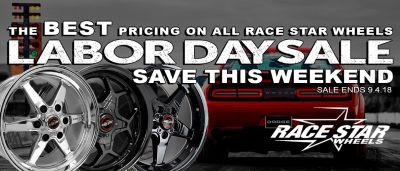 Race Star Labor Day Sale! Drag Racing Wheels Specials