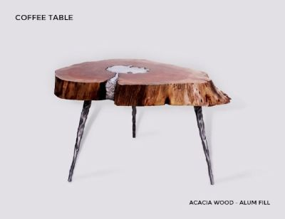 Best Quality Molten Wood Coffee Table at Aglow Exports Inc.
