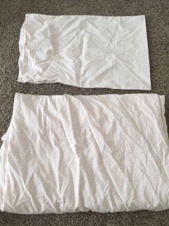 Twin duvet cover and pillow case