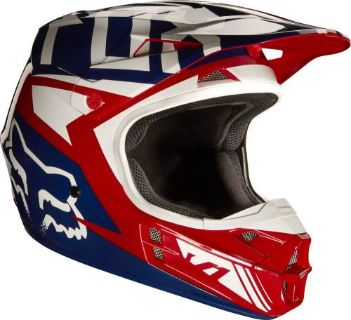 Purchase 2017 FOX RACING V1 FALCON HELMET MOTOCROSS DIRTBIKE OFFROAD ADULT MX RED WHITE motorcycle in Palm Harbor, Florida, United States, for US $169.95