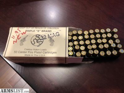 For Sale: Box of 32 Magnum Ammo