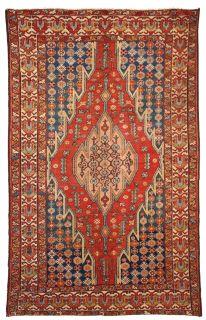 Handmade antique Persian Mazlahan rug, 1B35