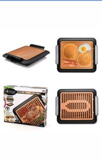 Gotham Steel Electric Griddle Grill Smokeless Nonstick Ceramic Pan Indoor Stove Stove-top (Grill Only)