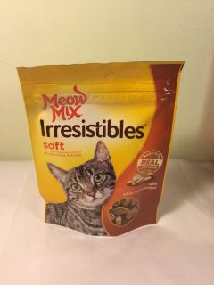 Meow mix irresistible s soft chicken cat tree, expiration August 2020