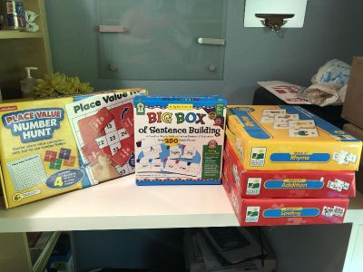 School Related Games Rhyme, Addition, Spelling, Place Value and Sentence Building