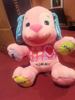 Fisher Price Laugh Learn Love toy dog, pink