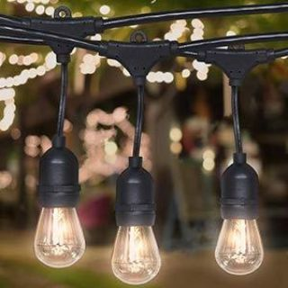 48ft incandescent patio string light