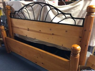 Pine Queen Size Bed Frame