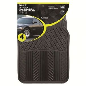 Find Pilot Automotive All Season 4 pc. Rubber Floor Mat Set - Black motorcycle in Silver Spring, Maryland, United States, for US $12.99