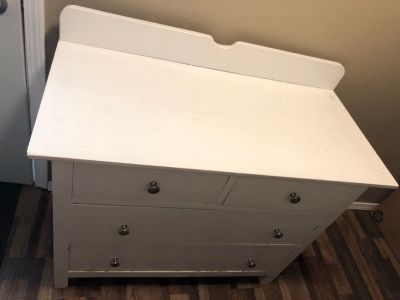 Changing table white