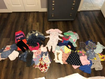 Lot of Baby Girl Clothes Sizes 9m and 12m