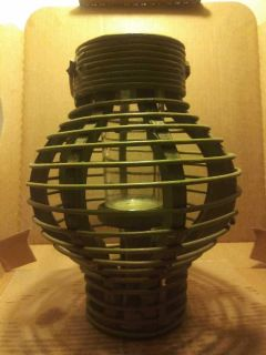 Lantern with candle holder