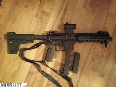 For Sale/Trade: AR-15 pistol 40 cal takes Glock mags