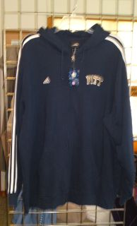 ADIDAS JACKET BLUE PITT PANTHERS HOODIE HOODED SWEATSHIRT 2XL