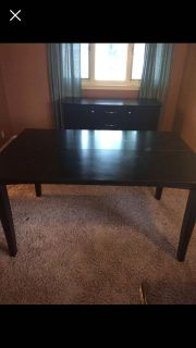 Dining room Table, 8 chairs and Buffet