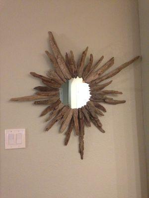 Starburst driftwood mirror