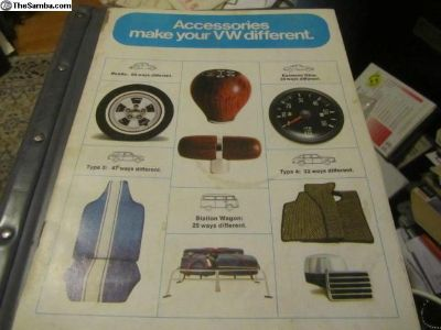 AccessoriesCatalog1971&VWParts&Advice1987: