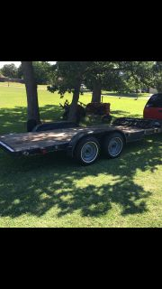 16 foot car trailer flarbed