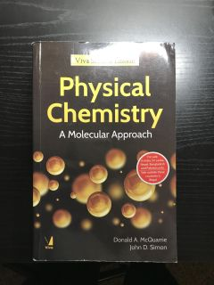 Physical Chemistry by Donald A. McQuarrie and John D. Simon