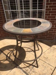 Outdoor Patio Table with Umbrella Base - Bar Stool High