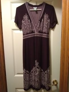 Plum maternity dress