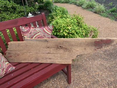 Huge Barn Wood Wall hanging! Shaped like Tennessee!!49 wide x 12 wideReady to hang on your wall! Wire hanger on back!!
