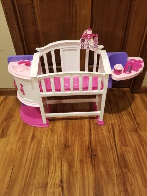 Plastic 3-in-1 Doll Crib, Sink and High Chair