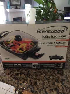 Brand new 12 electric skillet