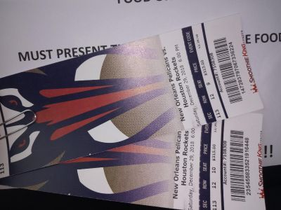 2 Pelican game tickets for dec 29