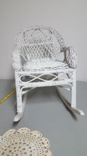 Nice wicker DOLL chair or plant seat