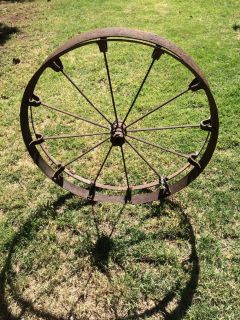 Iron Wagon Wheel used for planting Crops
