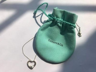 Auth. Tiffany heart pendant - sterling silver